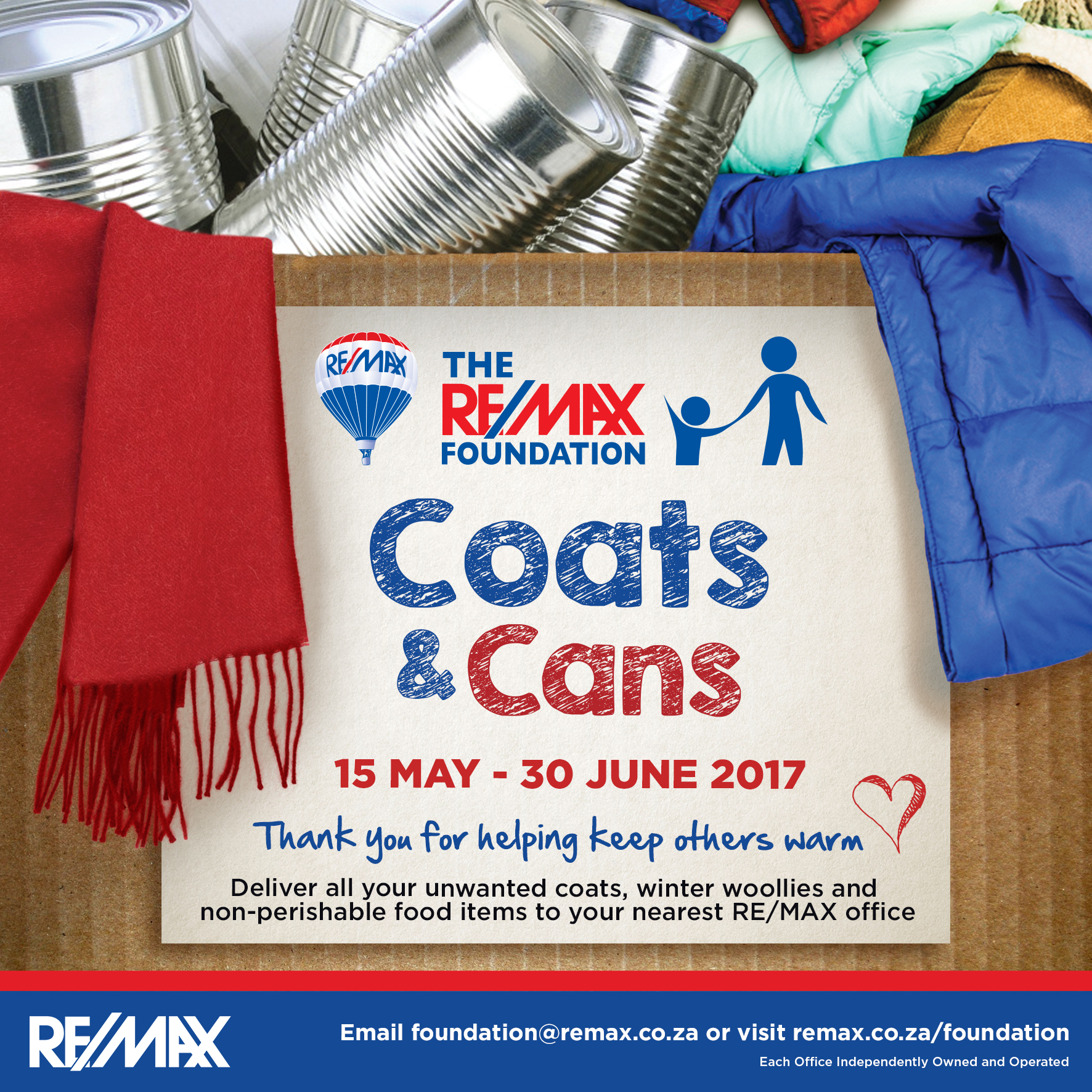 REMAX Coats and Cans gets underway